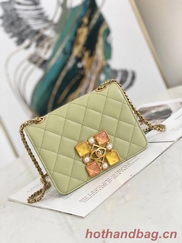 Chanel flap bag AS2259 green