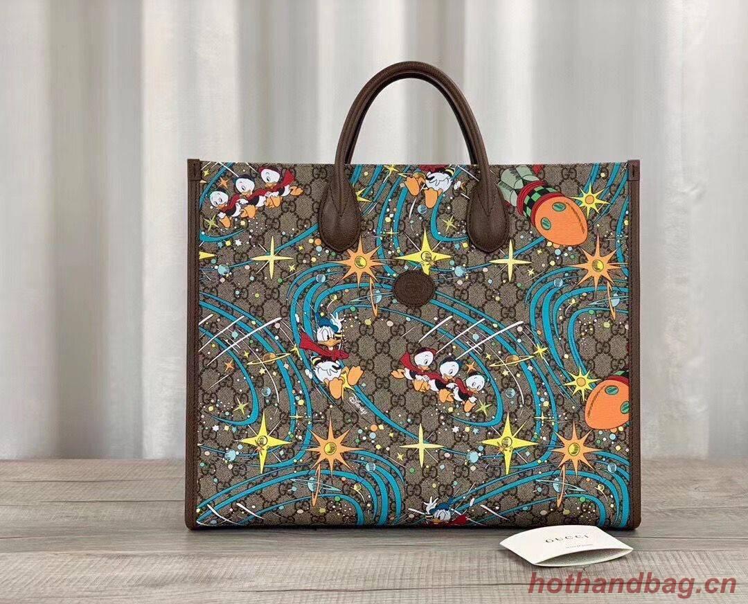 Gucci Donald Duck Series Original Leather Tote Bag 650037