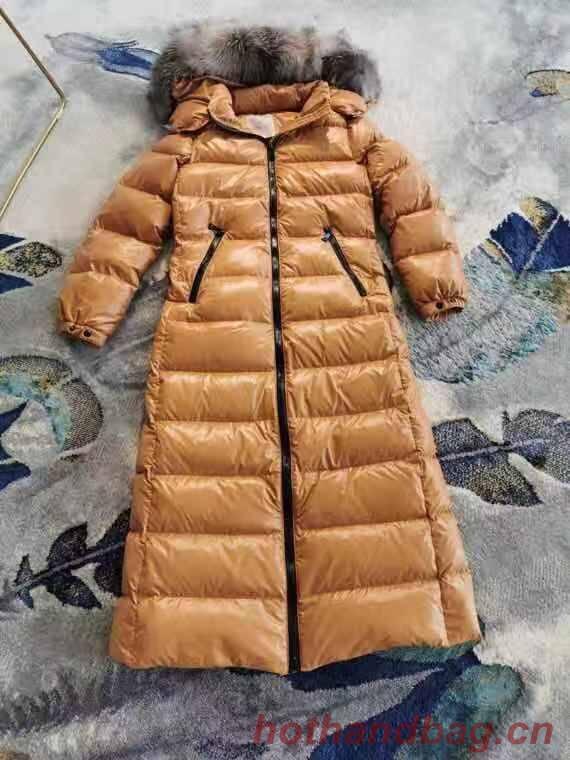 Moncler Hudson 20 Winter New Super Long Down Jacket Silver Fox Fur M96389 Brown