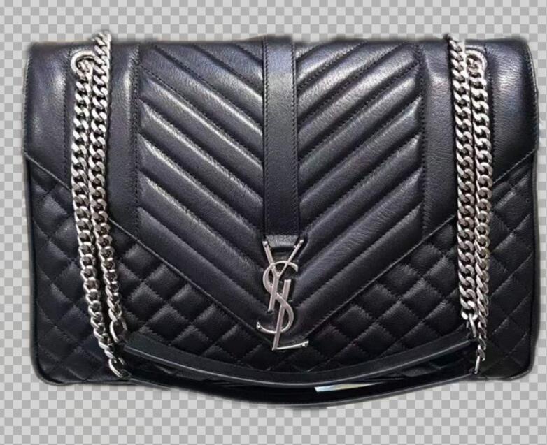 Yves Saint Laurent Calfskin Leather Shoulder Bag Y5699 black