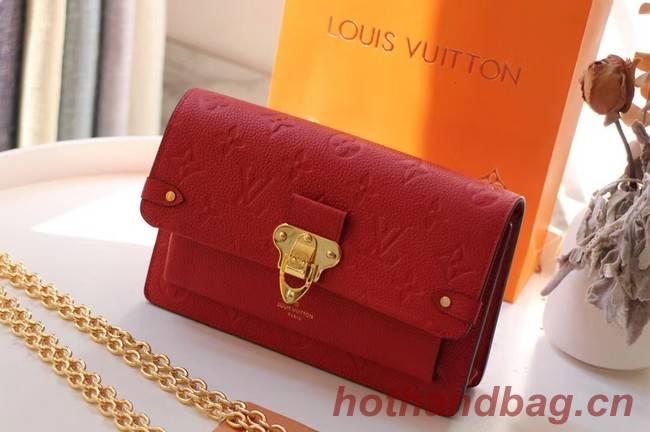Louis vuitton VAVIN CHAIN WALLET M67841 red