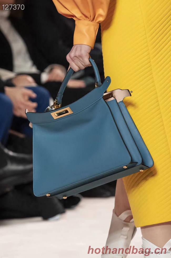 Fendi PEEKABOO ISEEU MEDIUM leather bag 70193 blue