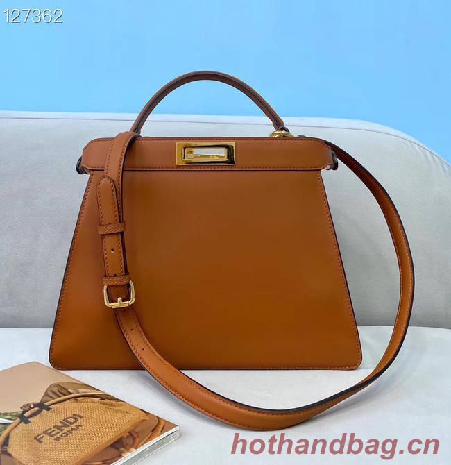 Fendi PEEKABOO ISEEU MEDIUM leather bag 70193 brown