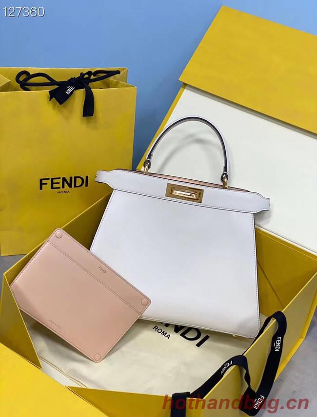Fendi PEEKABOO ISEEU MEDIUM leather bag 70193 white