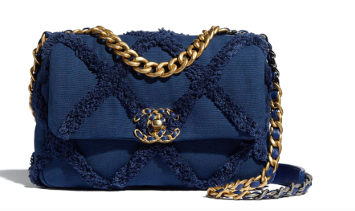 chanel 19 flap bag AS1160 Navy Blue
