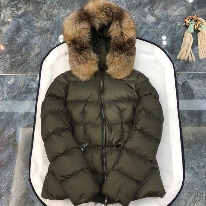 Moncler Top Quality Women Down Coat M85199 ArmyGreen
