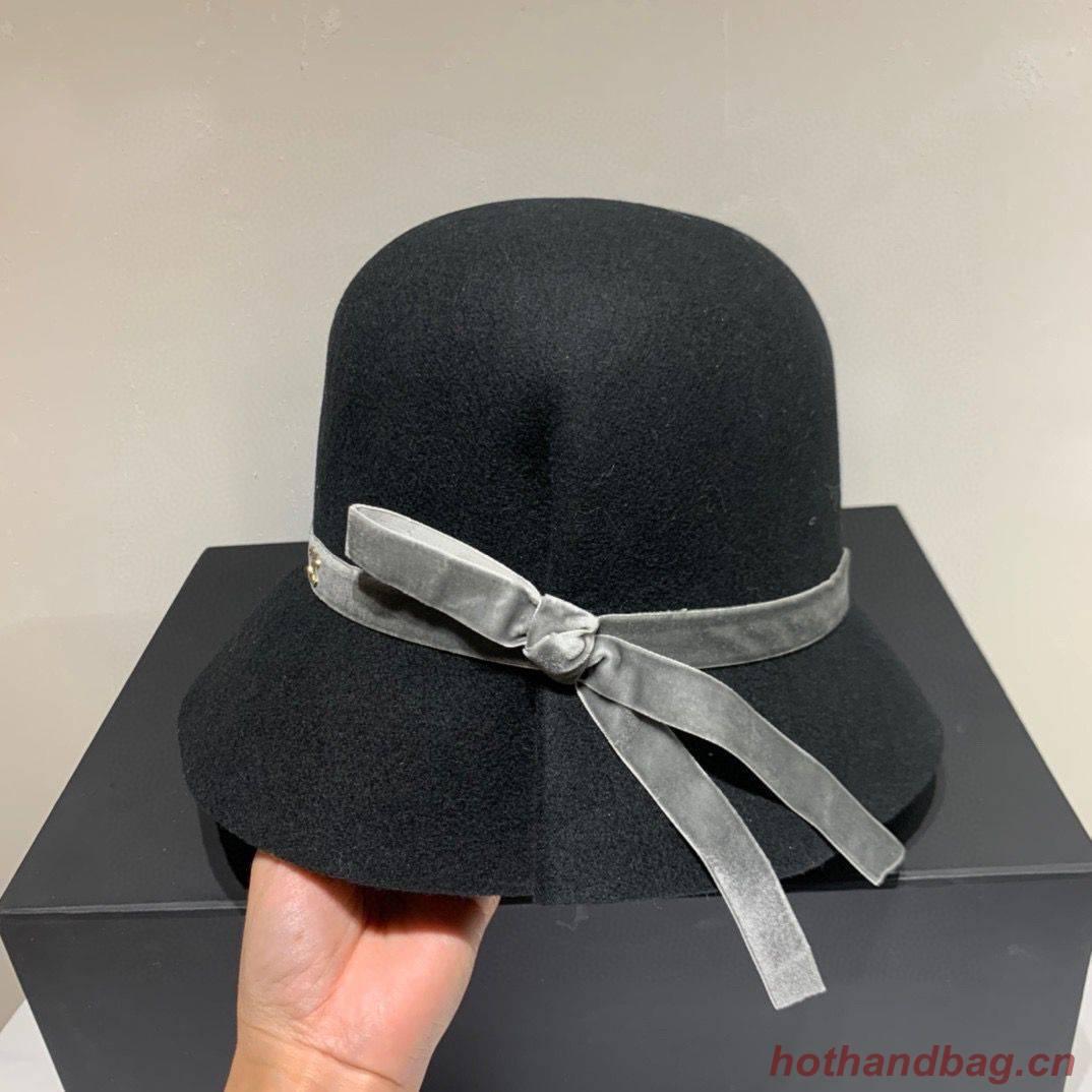 Chanel Wool Hat Ch69485 Black