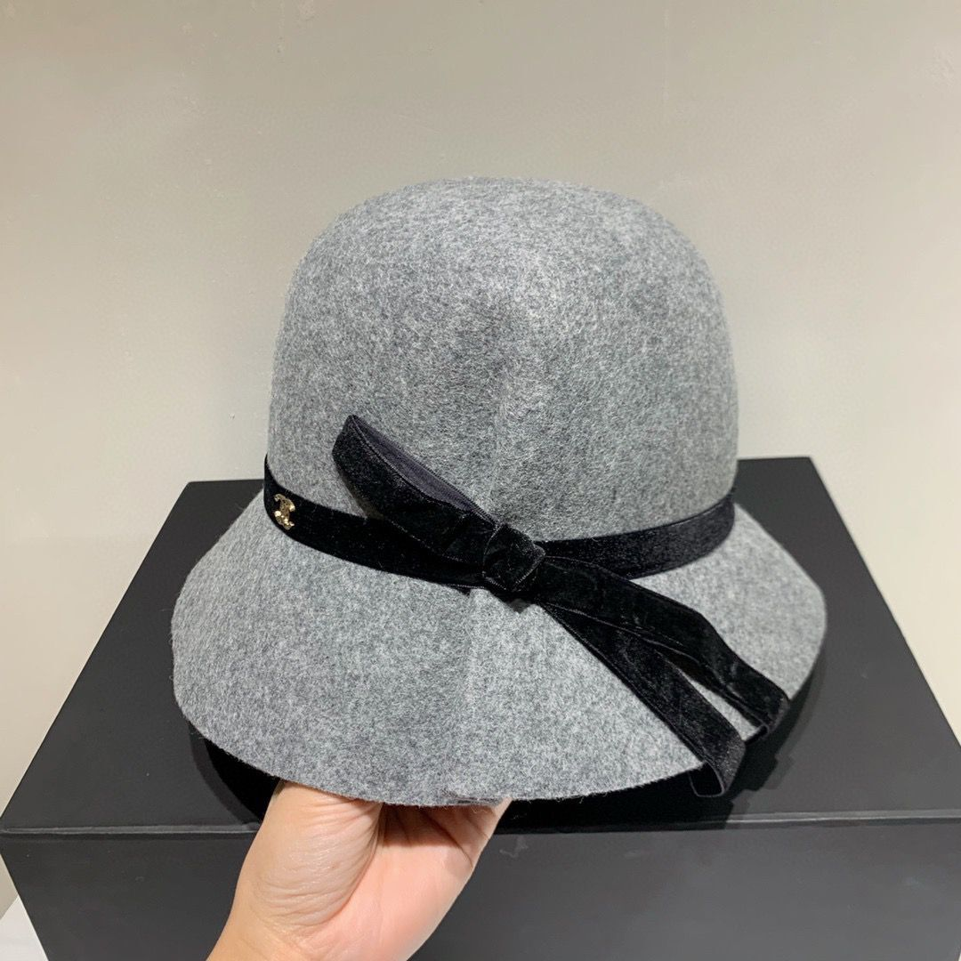 Chanel Wool Hat Ch69485 Gray