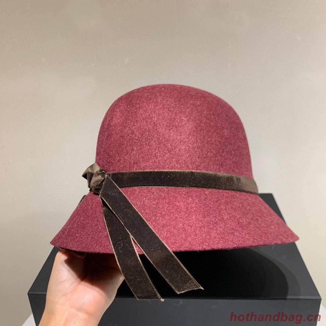 Chanel Wool Hat Ch69485 Wine
