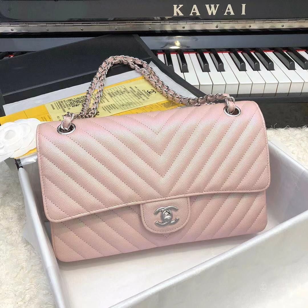 Chanel 2.55 Series Flap Bag Leather A1112CF Pink