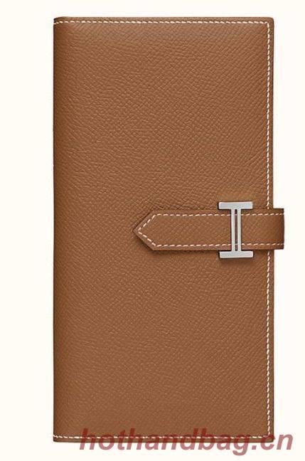 Hermes Wallet Original Leather H513 Brown