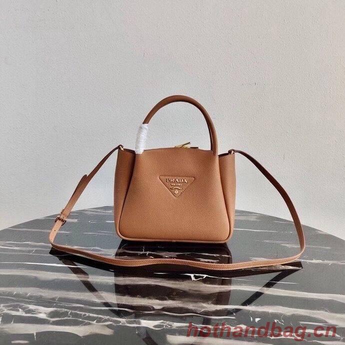 Prada Deer skin bag tote 1BC145 brown