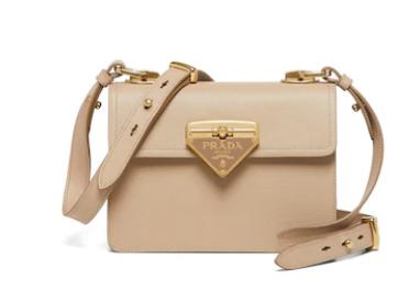 Prada Saffiano leather Prada Symbole bag 1BD270 Biscuits