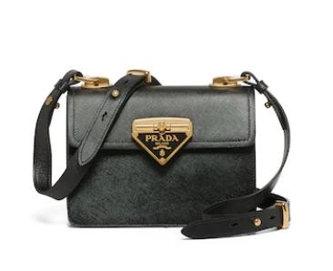 Prada Saffiano leather Prada Symbole bag 1BD270 black
