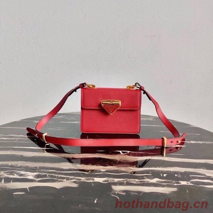 Prada Saffiano leather Prada Symbole bag 1BD270 red