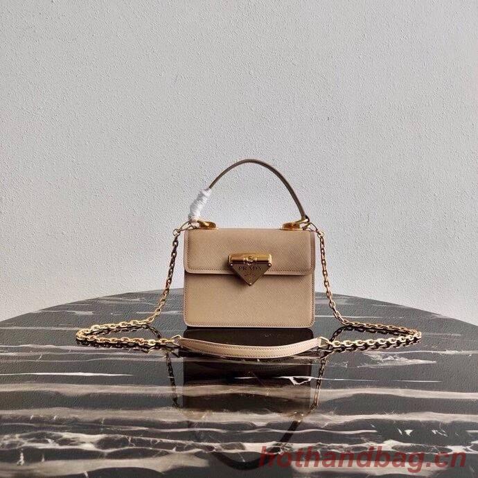 Prada Saffiano leather Prada Symbole bag 1BN021 Biscuits