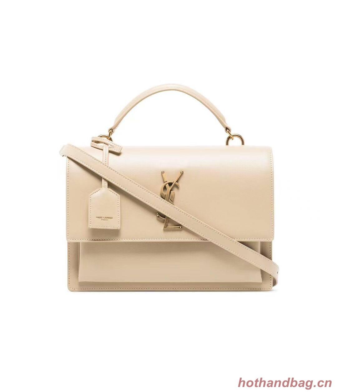 Yves Saint Laurent Calfskin Leather Tote Bag Y634723 Beige