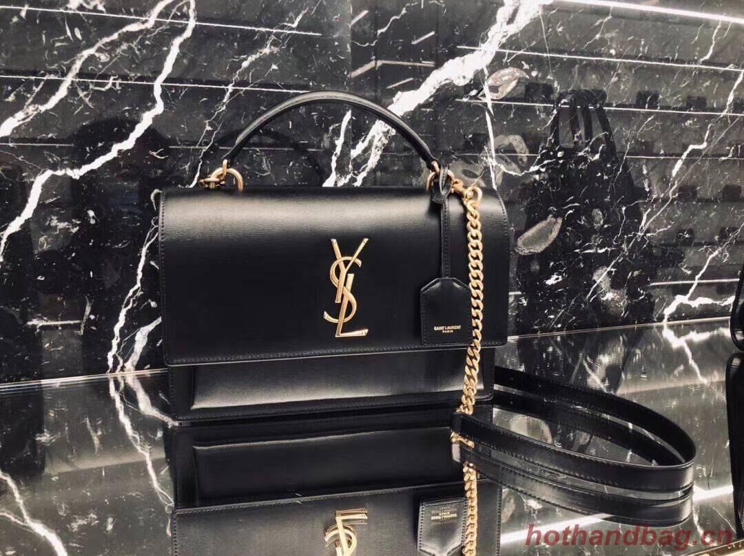Yves Saint Laurent Calfskin Leather Tote Bag Y634723 black