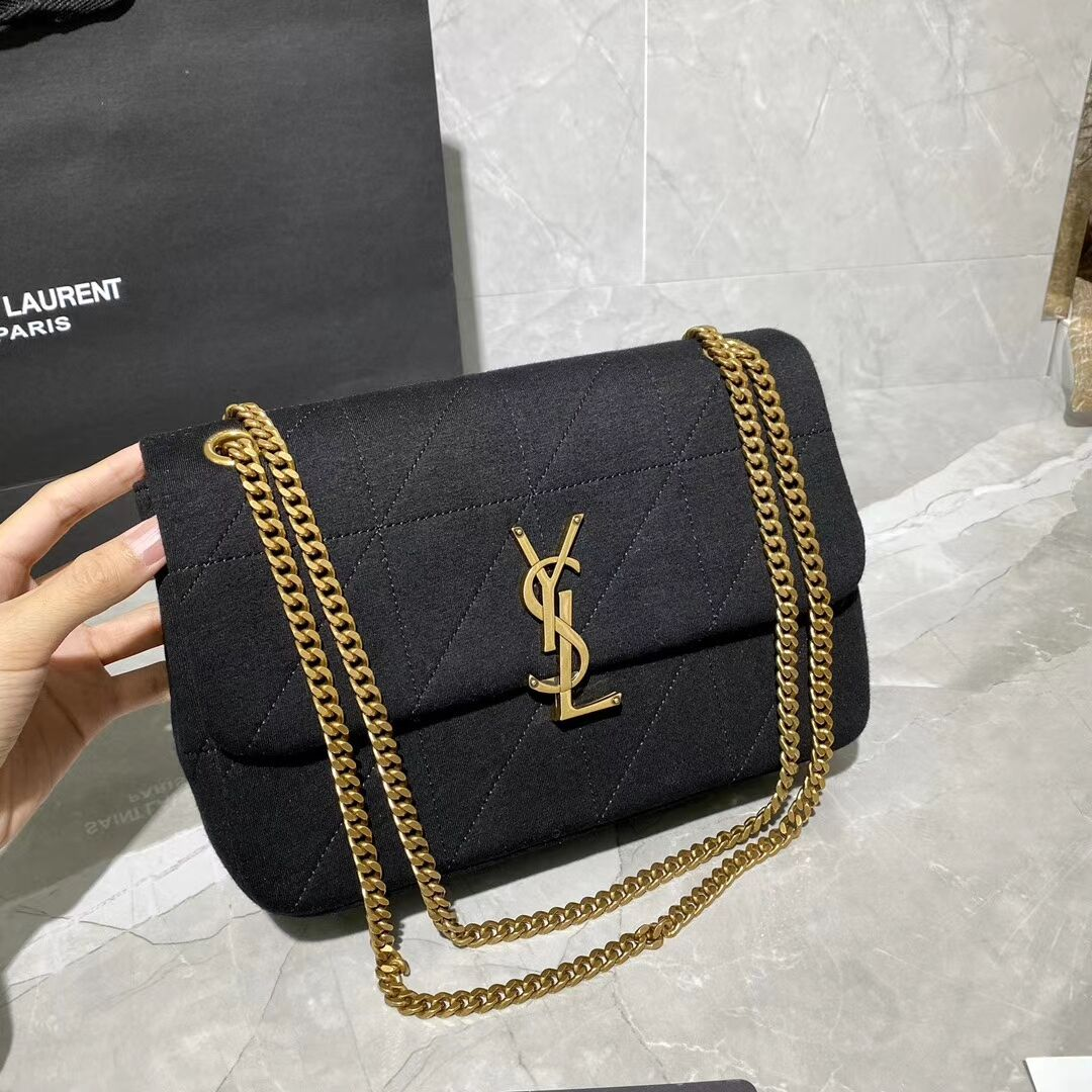 Yves Saint Laurent IN CANVAS AND LEATHER Y434820 black