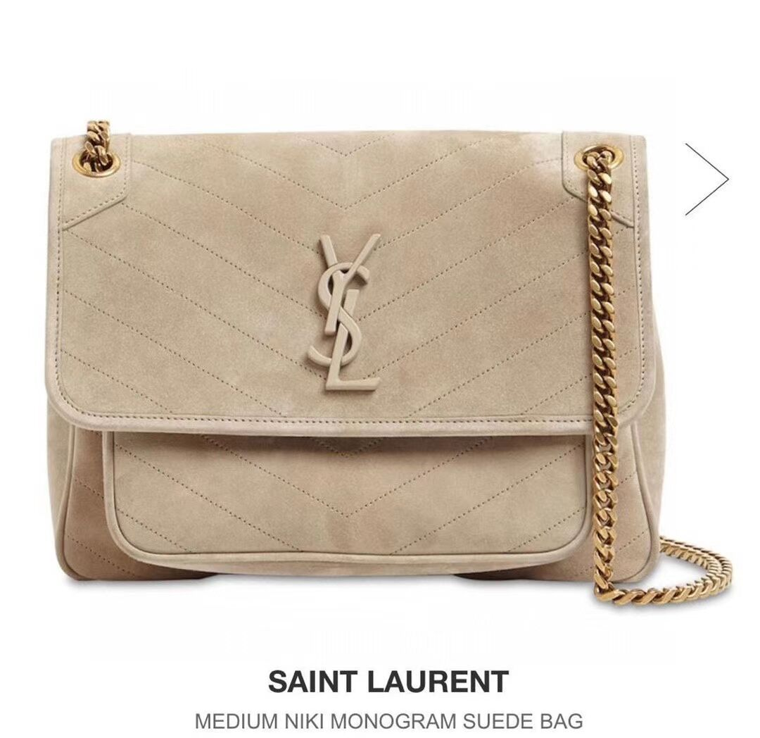 Yves Saint Laurent IN SUEDE AND SMOOTH LEATHER  Y498894E brown