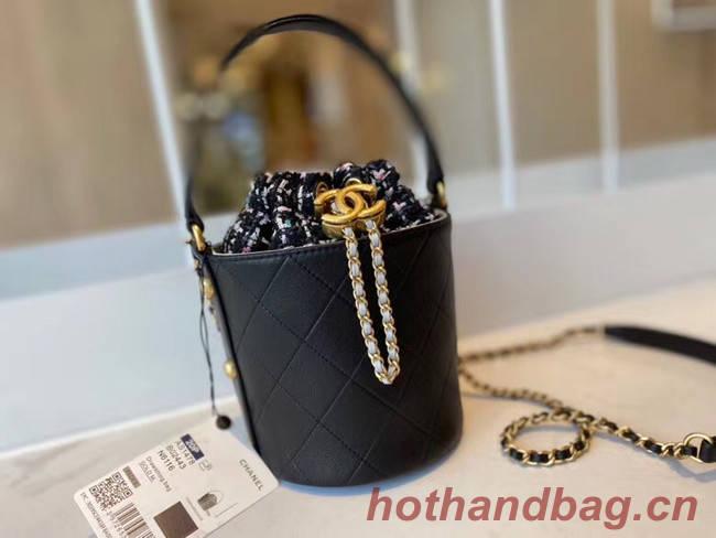 Chanel Drawstring Sheepskin bag AS1478 black