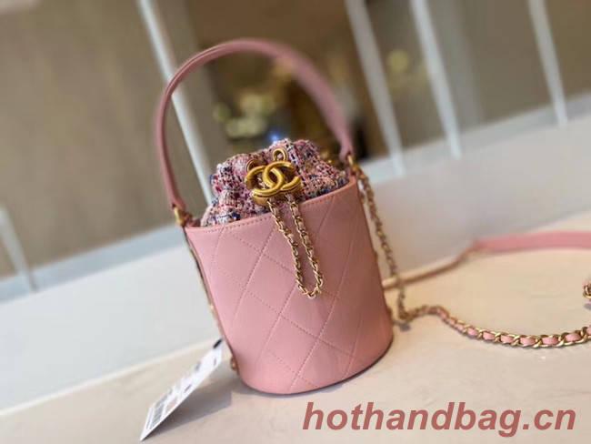 Chanel Drawstring Sheepskin bag AS1478 pink