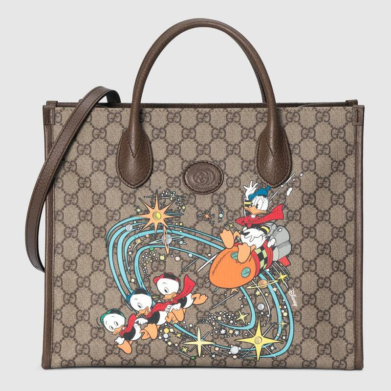 Gucci Disney x Gucci Donald Duck tote bag 648134 brown
