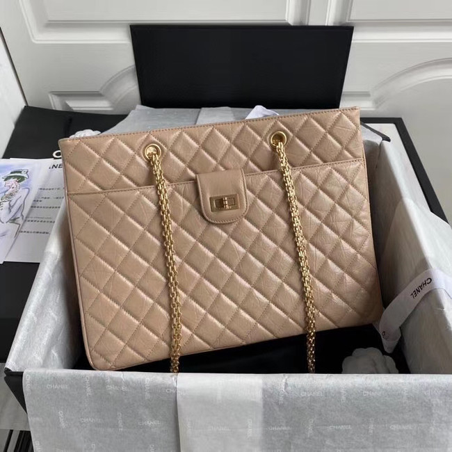 Chanel Original Lather Shopping bag AS6611 Beige