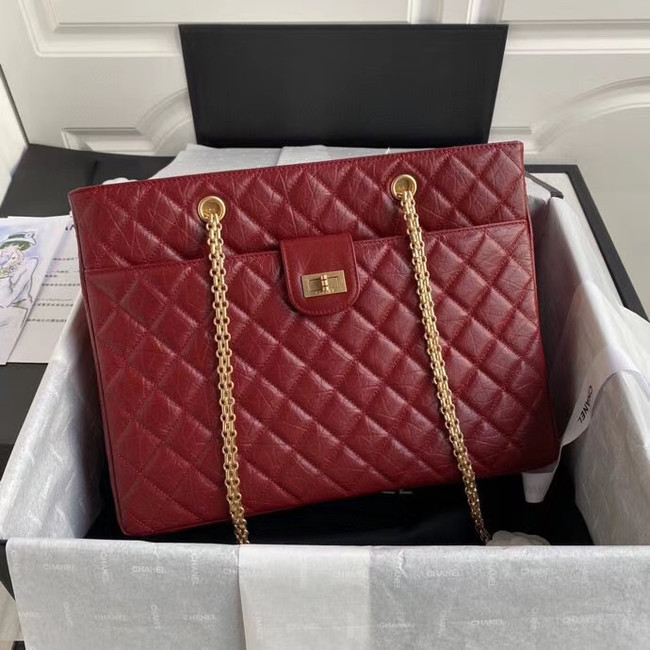 Chanel Original Lather Shopping bag AS6611 red