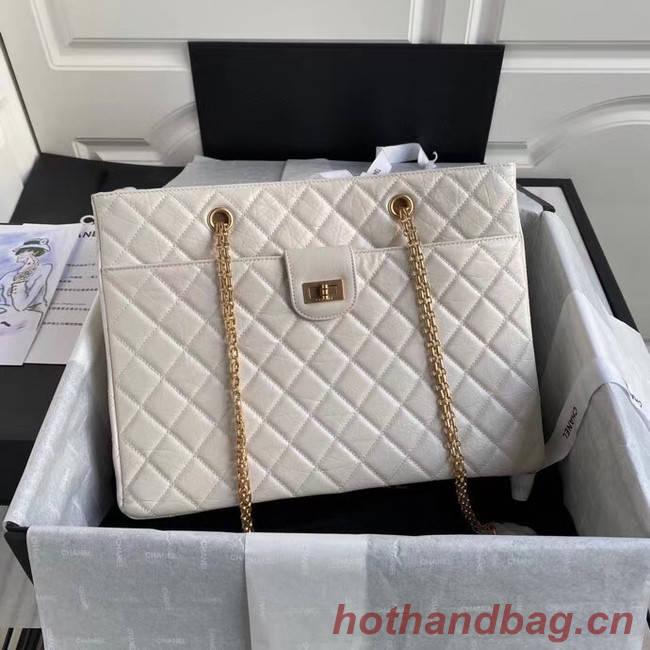 Chanel Original Lather Shopping bag AS6611 white