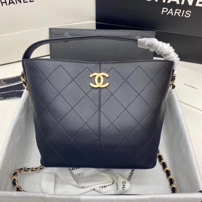 Chanel small shopping bag AS2286 black