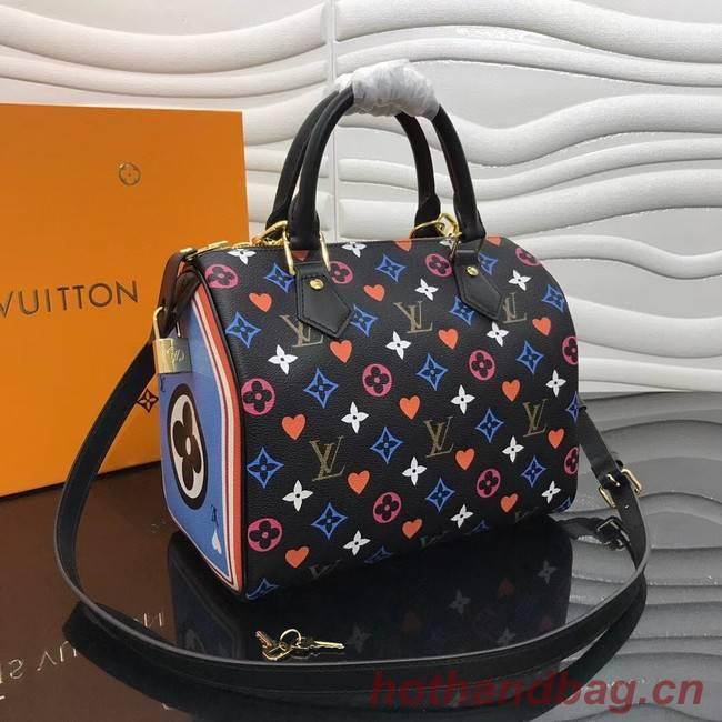 Louis Vuitton GAME ON SPEEDY BANDOULIERE 25 M57466 black
