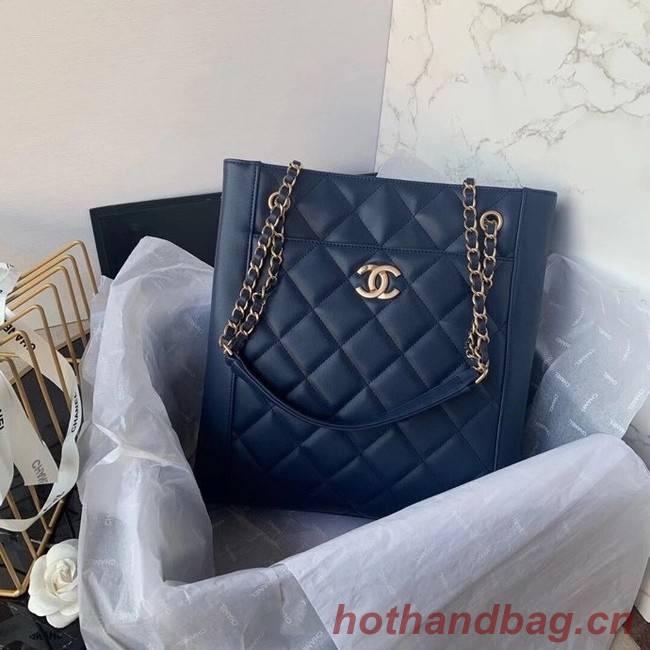 Chanel Original Lather Shopping bag AS2295 blue