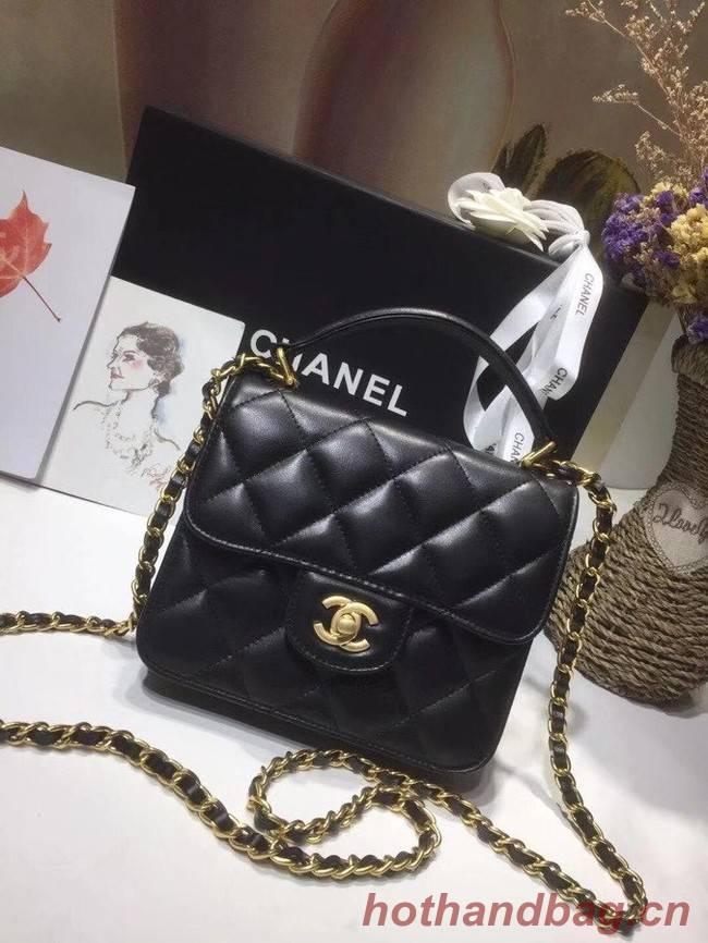 Chanel small tote bag 8817 black