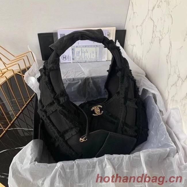 Chanel large hobo bag AS2292 black