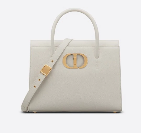 DIOR LARGE ST HONORE TOTE Grained Calfskin M9306UBAE WHITE