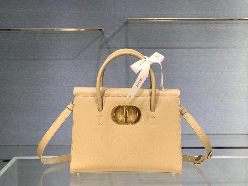 DIOR LARGE ST HONORE TOTE Grained Calfskin M9306UBAE apricot
