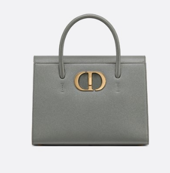 DIOR LARGE ST HONORE TOTE Grained Calfskin M9306UBAE gray