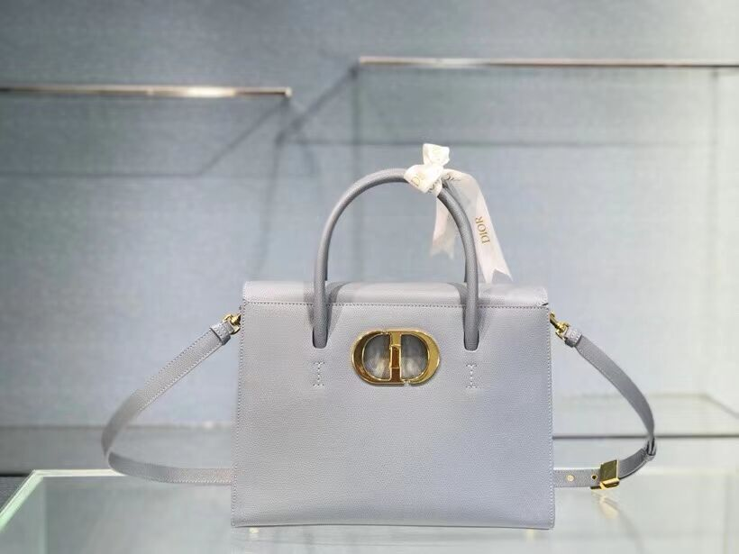 DIOR LARGE ST HONORE TOTE Grained Calfskin M9306UBAE sky blue