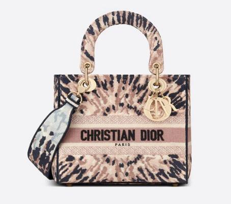 DIOR MEDIUM LADY D-LITE BAG Multicolor Tie & Dior Embroidery M0565OJA