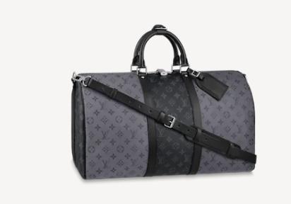Louis Vuitton KEEPALL BANDOULIERE 50 M45392 black