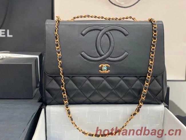 Chanel flap bag Lambskin & & Gold-Tone Metal A92233 black