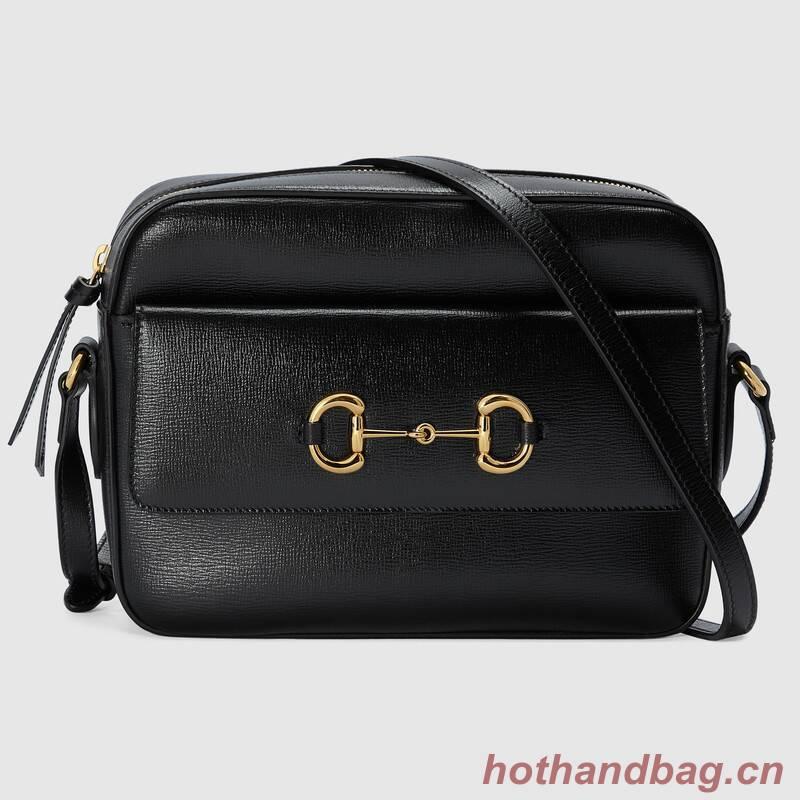 Gucci Horsebit 1955 small shoulder bag 645454 Black