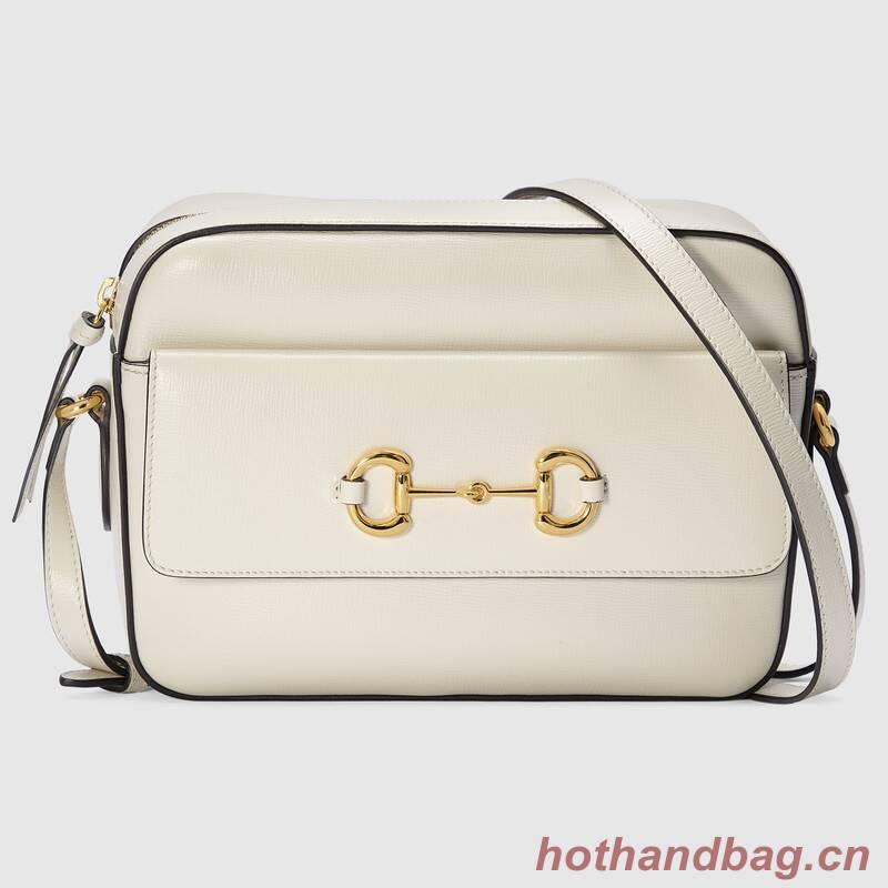 Gucci Horsebit 1955 small shoulder bag 645454 White
