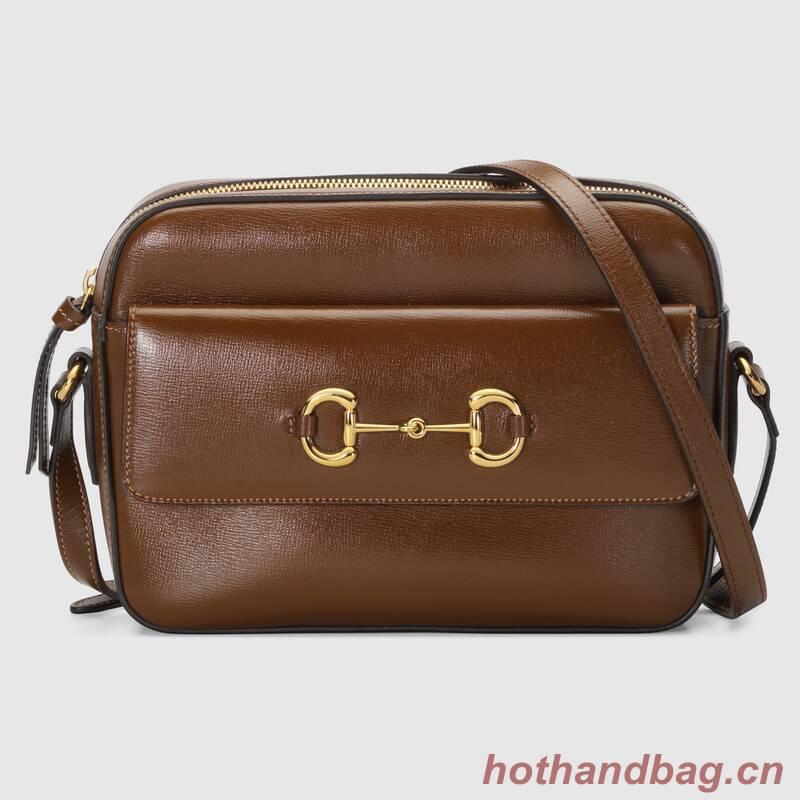 Gucci Horsebit 1955 small shoulder bag 645454 brown