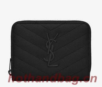 YSL Wallet Original Leather Y6978 Black