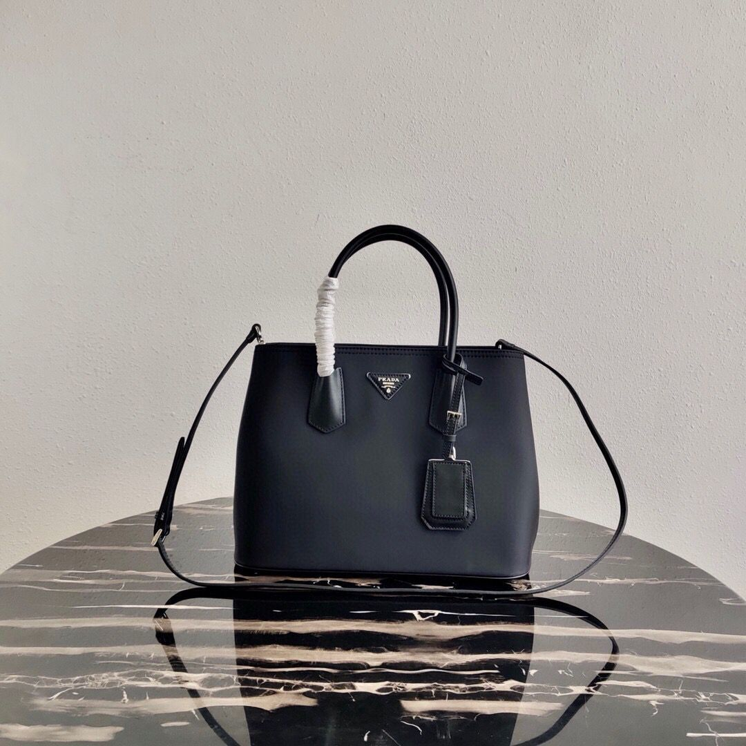 Prada Nylon Top Handbag 1BG775 Black