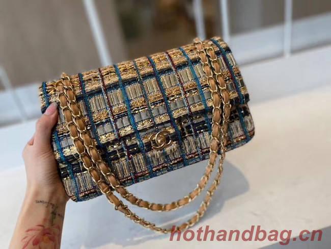 Chanel classic handbag Tweed & Gold-Tone Metal A01112-1