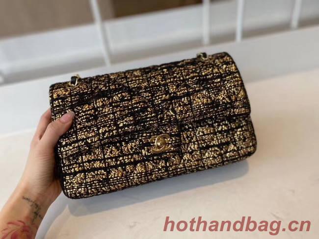 Chanel classic handbag Tweed & Gold-Tone Metal A01112-2