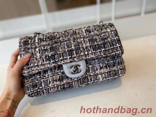 Chanel classic handbag Tweed & silver-Tone Metal A01112-3